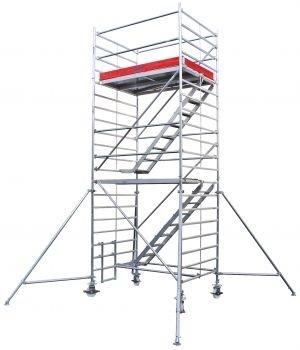 Передвижные подмости Krause STABILO 5500-2 с трапом. раб. высота 4,5 м Купить в магазине TAYGER