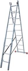 Универсальная лестница из двух частей Krause DUBILO 2 х 9 перекладин Купить в магазине Tayger