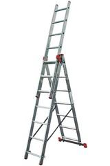 Универсальная лестница из трёх частей Krause TRIBILO 3 х 6 перекладин Купить в магазине Tayger