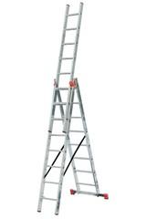 Универсальная лестница из трёх частей Krause TRIBILO 3 х 8 перекладин Купить в магазине Tayger