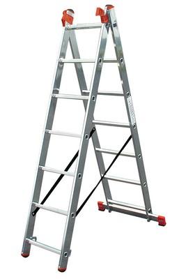 Универсальная лестница из трёх частей Krause TRIBILO 3 х 9 перекладин Купить в магазине Tayger
