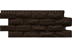 Фасадная панель Grand Line Колотый камень Стандарт коричневая