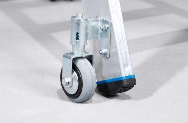 Свободностоящая стремянка Krause Stabilo 5 ступенек с роликами Купить в магазине Tayger