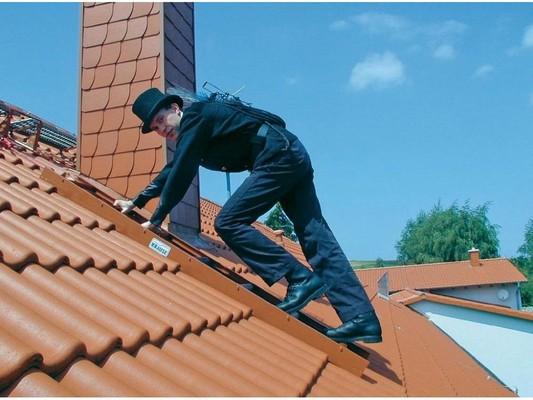 Стационарная лестница для крыши Krause STABILO коричн. 14 ступеней  Купить в магазине TAYGER