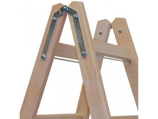 Двусторонняя лестница из дерева Krause STABILO с перекладинами, 2 х 4 перекладин Купить в магазине Tayger