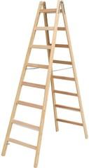 Двусторонняя лестница из дерева Krause STABILO с перекладинами, 2 х 9 перекладин Купить в магазине Tayger