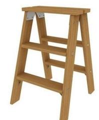 Деревянная двусторонняя лестница Krause 2х3 ступеней 818201 - это незаменимое в любом жилом доме приспособление, позволяющее достать необходимые вещи из труднодоступных мест, поменять лампочку в люстре, покрасить потолок, провести какие-либо монтажные раб