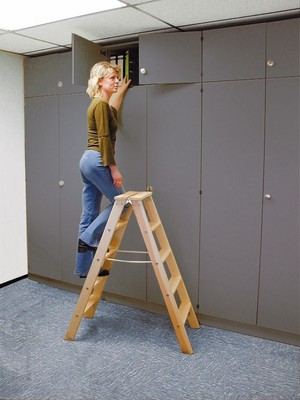 Двусторонняя лестница из дерева Krause STABILO со ступенями, 2 х 4 ступеней Купить в магазине Tayger