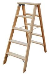 Двусторонняя лестница из дерева Krause STABILO со ступенями, 2 х 8 ступеней Купить в магазине Tayger