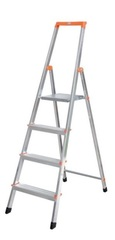 Свободностоящая стремянка Krause SOLIDY 7 ступенек, раб. высота 3,49 м Купить в магазине Tayger