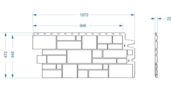 Фасадные панели (Цокольный Сайдинг) Docke (Деке) Burg (Камень) Темный