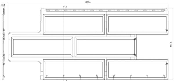 Фасадная Панель фасад. плитка (Златолит)