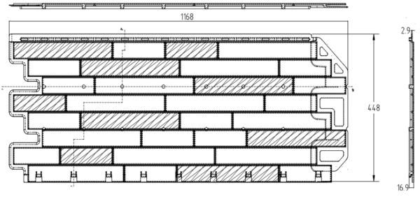 Фасадная Панель кирпич-антик (Александрия)