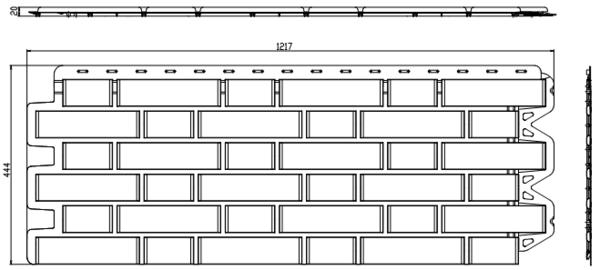 Фасадная Панель кирпич клинкерный (жжёный)