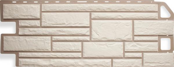 Фасадная Панель камень (белый)