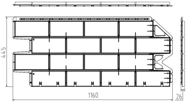 Фасадная Панель фагот (каширский)