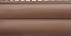 Сайдинг Акриловый Альта-Профиль Блок-Хаус, двухпереломный, Красно-коричневый
