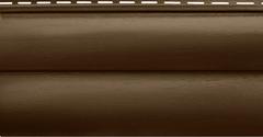 Сайдинг Акриловый Альта-Профиль Блок-Хаус, двухпереломный, Орех тёмный