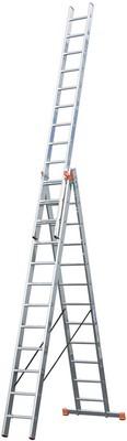 Универсальная лестница из трёх частей с доп. Функцией Krause TRIBILO 3 х 12 перекладин Купить в магазине Tayger