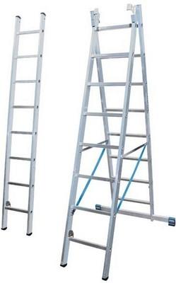 Универсальная лестница из трёх частей Krause STABILO 3 х 8 перекладин с доп. Функцией Купить в магазине Tayger