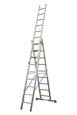 Универсальная лестница из трёх частей Krause STABILO 3 х 10 перекладин с доп. Функцией Купить в магазине Tayger