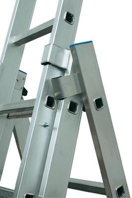 Универсальная лестница из трёх частей Krause STABILO 3 х 12 перекладин Купить в магазине Tayger