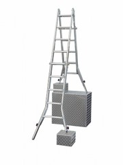 Шарнирная телескопическая стремянка Krause STABILO 4 х 5 перекладины Купить в магазине Tayger