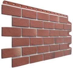 Фасадные панели (Цокольный Сайдинг) Деке Berg (Кирпич) Рубиновый