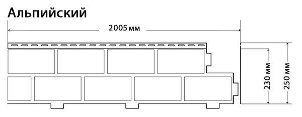 Фасадные панели (Цокольный Сайдинг) Доломит Альпийский 2-х метровый (Дикий Камень) Орех