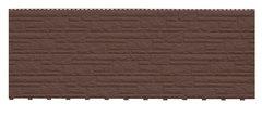 Фасадные панели (Цокольный Сайдинг) Доломит Доломит NEW Шоколад-1