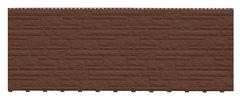 Фасадные панели (Цокольный Сайдинг) Доломит Доломит NEW Темно-коричневый