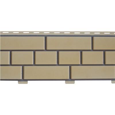 Фасадные панели (Цокольный Сайдинг) Доломит Кирпич Светло-желтый