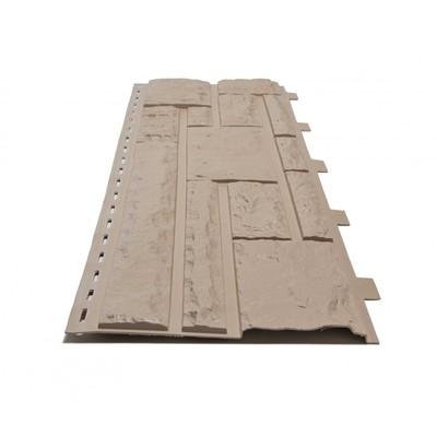 Фасадные панели (Цокольный Сайдинг) Доломит Доломит NEW Сандал