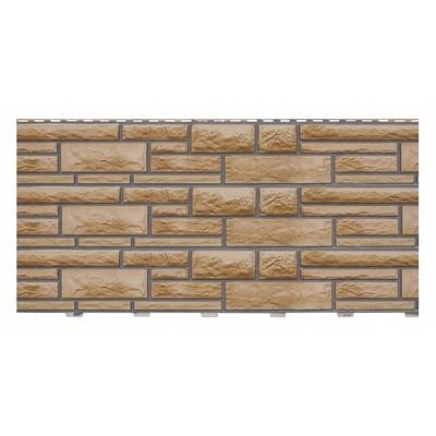 Фасадные панели (Цокольный Сайдинг) Доломит Доломит NEW Миндаль