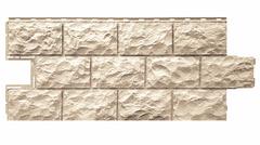 Фасадные панели (Цокольный Сайдинг) Фасайдинг Дачный Доломит Бежевый