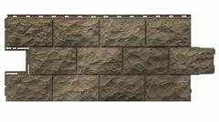 Фасадные панели (Цокольный Сайдинг) Фасайдинг Дачный Доломит Дымчатый