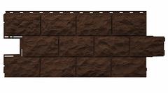 Фасадные панели (Цокольный Сайдинг) Фасайдинг Дачный Доломит Коричневый