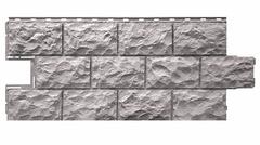 Фасадные панели (Цокольный Сайдинг) Фасайдинг Дачный Доломит Серый