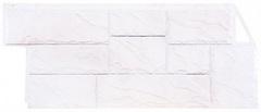 Фасадные панели (Цокольный Сайдинг) Фасайдинг Дачный Камень Крупный Белый