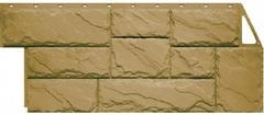 Фасадные панели (Цокольный Сайдинг) Фасайдинг Дачный Камень Крупный Бежевый