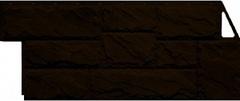 Фасадные панели (Цокольный Сайдинг) Фасайдинг Дачный Камень Крупный Коричневый