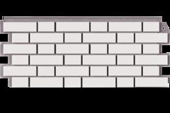 Фасадные панели (Цокольный Сайдинг) Фасайдинг Дачный Кирпич Клинкерный Белый