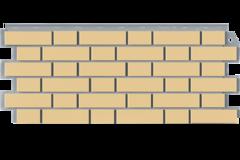 Фасадные панели (Цокольный Сайдинг) Фасайдинг Дачный Кирпич Клинкерный Жёлтый