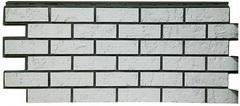 Фасадные панели (Цокольный Сайдинг) Фасайдинг Дачный Русская крепость Белый