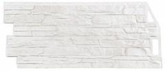 Фасадные панели (Цокольный Сайдинг) Фасайдинг Дачный Скала Белый