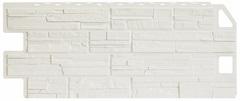 Фасадные панели (Цокольный Сайдинг) Фасайдинг Дачный Сланец Белый