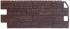 Фасадные панели (Цокольный Сайдинг) Фасайдинг Дачный Сланец Коричневый
