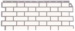 Фасадные панели (Цокольный Сайдинг) FineBer (Файнбир) Кирпич Облицовочный Белый