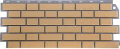 Фасадные панели (Цокольный Сайдинг) FineBer (Файнбир) Кирпич Облицовочный Желтый