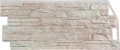 Фасадные панели (Цокольный Сайдинг) FineBer (Файнбир) Скала Мелованный белый